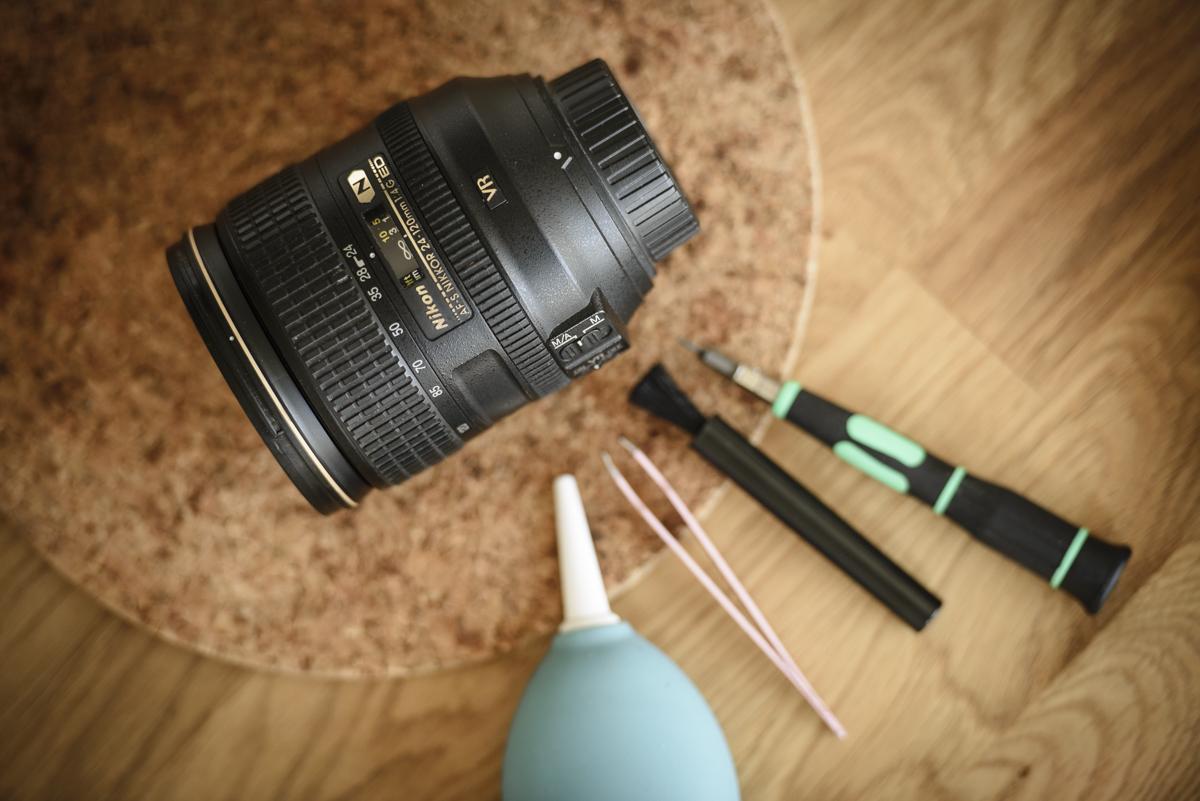Rengöring av Nikon 24-120 f4 objektiv