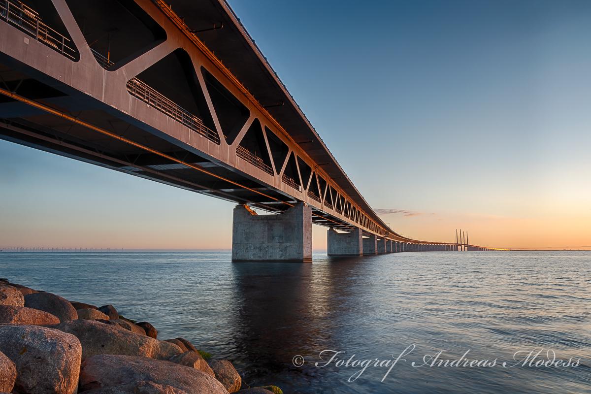 Solnedgång vid Öresundsbron