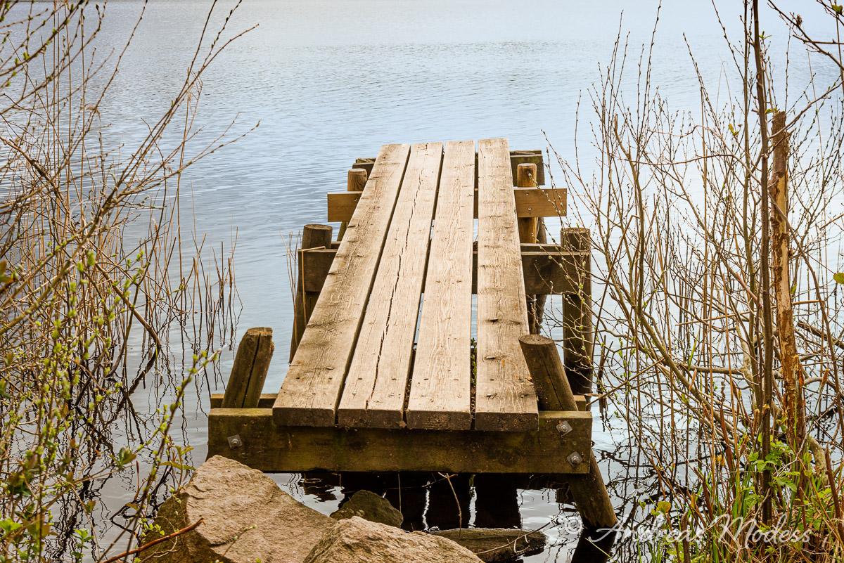 Brygga i Vaxsjön i Frostavallen