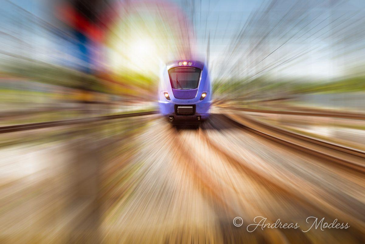 Tåg i rörelse